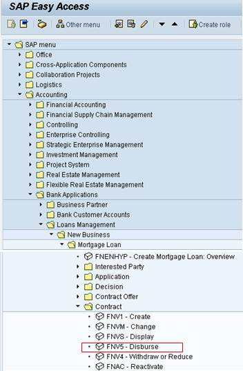 SAP Disbursement SAP IS Banking Loan Disbursement