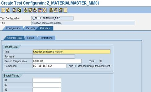 eCATT test configuration2 SAP eCATT Step by Step Guide