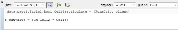 Use of Java Script and Form Calc in Adobe Interactive Form
