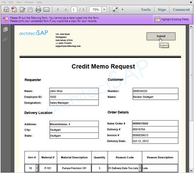 Apprisia  Credit Note Form